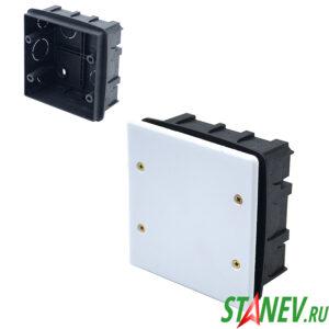 СП Коробка разветвительная 100х100х50 для скрытого монтажа с крышкой IP20 PlastElectro 10-54