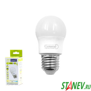 G45F Лампа светодиодная Шарик-Е27 12Вт 4500К естественный белый свет General 10-100