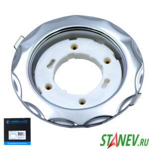 Светильник точечный встраиваемый спот GX53 металл серебро Н-20 без лампы потолочный 10-50
