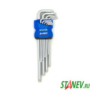 Ключи набор Звездочки Р-5 TORX Большой 9 ключей Т10-Т50 блистер 12-60