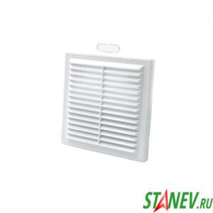 Решетка вентиляционная вытяжная 150х150 белая пластиковая наружная разборная с сеткой ТДМ 10-50