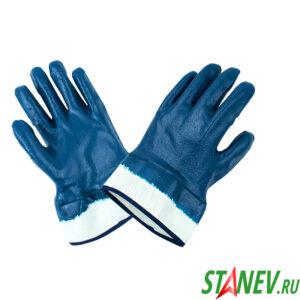Перчатки рабочие С-59 с полным нитриловым покрытием МБС синие 12-360
