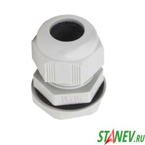 Сальник кабельный ввод PG 16 D кабеля 10-14 мм с уплотнителем с контргайкой Plastex 100-1000