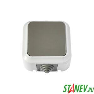 АКВА Выключатель А16-222 03 влагозащищенный IP54 накладной 1кл для ванной комнаты туалета 1-60