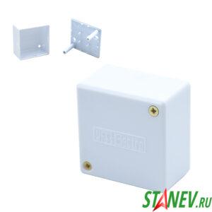 Монтажная коробка PE 55х55х30мм IP42 белая PlastElectro 1-39