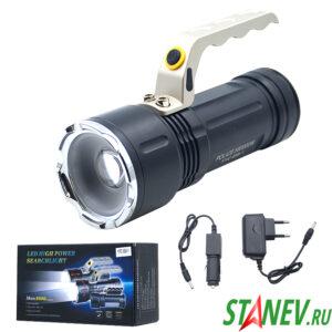 Ручной большой фонарь 3 режима ZOOM аккумуляторный в металле YYC-688-1  1-10