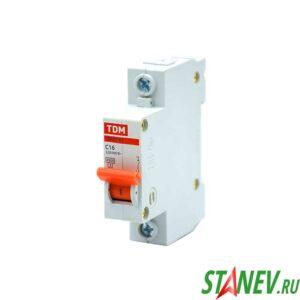 Автоматический выключатель ВА47-63 1Р 16А ТДМ 12-120