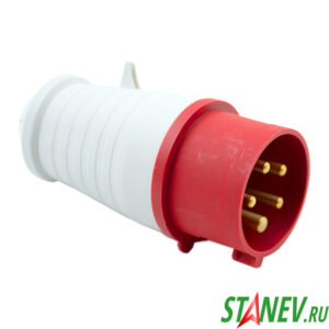 Силовая вилка переносная ВП1с кабельная 3 фазная 5*16А/220В 1-10