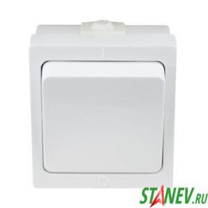 Выключатель А1 4-100 влагозащищенный IP44 накладной 1кл для ванной комнаты и туалета 1-60