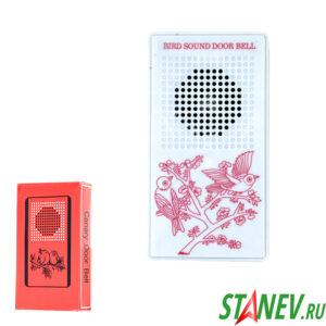 Дверной звонок проводной 220 В электрический  1 мелодия Канарейка Китай 1-100