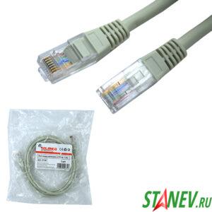Шнур Патч-корд UTP 1.5м кат 5е в упаковке SELENGA 1-20