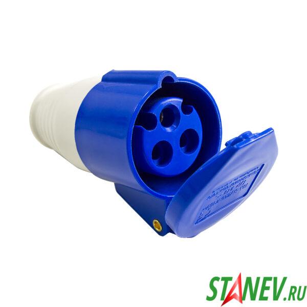 Силовая розетка переносная РП1с кабельная 1 фазный 16А 220В 10-100