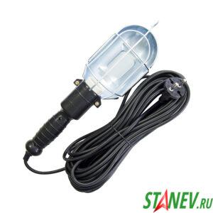 Светильник с решеткой переносной под лампу Е27 60ВТ 220В с выключателем 5 м STANdart luxe 1-50