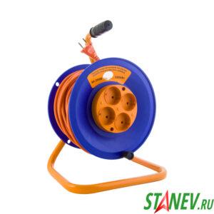 Удлинитель на катушке ULTRA 50 м 4 розетки без заземления пластиковый корпус ПВС 2х0.75 2-2