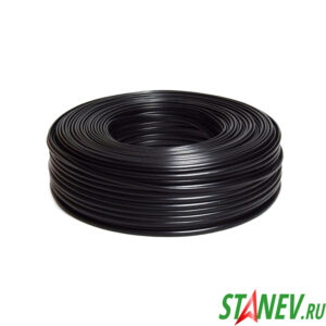 Провод электрический ПВС 2 х 0.75 кв.мм Черный двухжильный ТУ бухта 200м