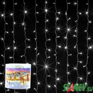 Гирлянда комнатная ЗАНАВЕС 1,5мх1,5м белый 160 LED с контролером 1-60