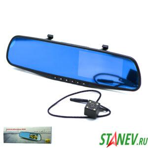 Автозеркало с камерой и регистратором заднего и переднего вида Vehicle Blackbox DVR 1-1