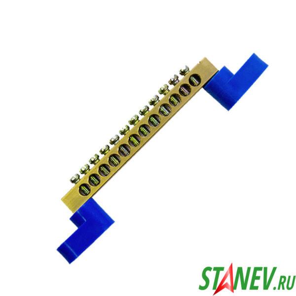 Шина нулевая на лапках 1х12 угловые изоляторы 20-300