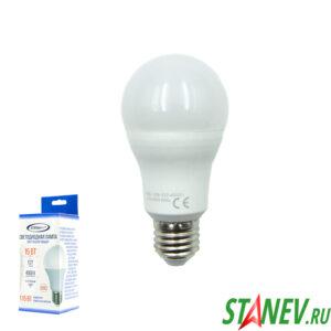 А60 Лампа светодиодная Е27 15Вт 4000К естественный белый свет  Standart luxe10-100