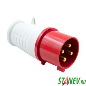 Силовая вилка переносная ВП1с кабельная 3 фазная 4*32А/220В 1-10