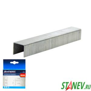 Скобы для мебельного степлера 53 тип 10 мм закаленные 1000 шт в пачке X-PERT 20-200