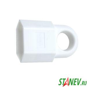 Гнездо штепсельное плоское с кольцом 10 А Standart Luxe 40-400