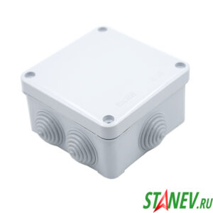 ОП Коробка распаечная 100х100х55мм открытого монтажа IP55 7 вводов PlastElectro 10-45