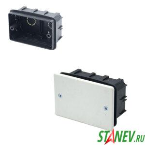 СП Коробка разветвительная 100х60х50 для скрытого монтажа с крышкой IP20 PlastElectro 10-90