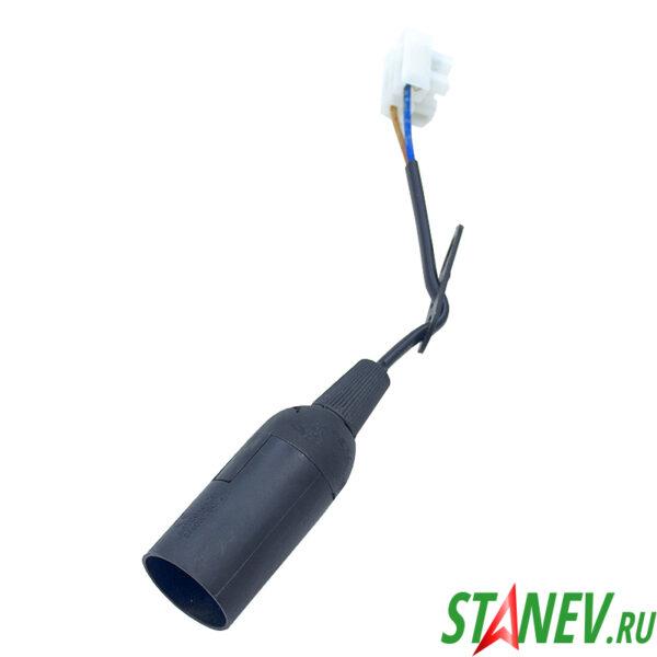 Электрический патрон подвесной Е14 Первый свет черный пластиковый для ламп STANdart luxe 50-200