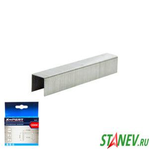 Скобы для мебельного степлера 53 тип 12 мм закаленные 1000 шт в пачке X-PERT 20-200