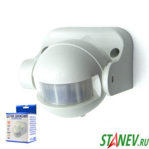 Standart luxe Инфракрасный датчик движения ST09 настенный 180 градусов IP44 12м космонафт 1-50
