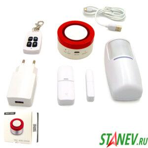 Сигнализация Wi-Fi комплект : сирена датчики беспроводной 1-50