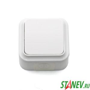 АКВА-белый Выключатель А16-222 влагозащищенный IP54 накладной 1кл для ванной и туалета 1-60