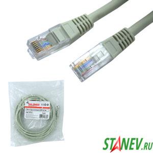 Шнур Патч-корд UTP 5м кат 5е в упаковке SELENGA 1-20
