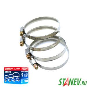 Хомут червячный 50 - 70 мм нержавеющая сталь SPARK LUX 50-1000