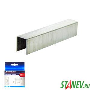Скобы для мебельного степлера 53 тип 14 мм закаленные 1000 шт в пачке X-PERT 20-200