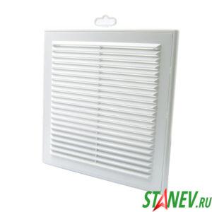Решетка вентиляционная пластиковая 250х250 белая наружная пластиковая вытяжная разборная ТДМ 10-50