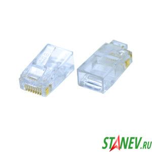 Коннектор джек 8Р8С для UTB кабеля RJ45 100-1000