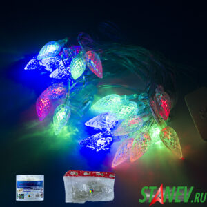 Гирлянда нить D комнатная ШИШКИ 40 LED соединяемая 1-60-100