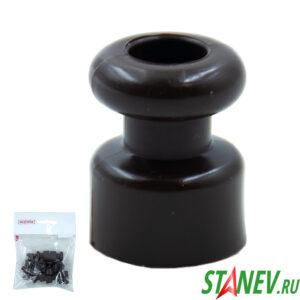 Изолятор для проводки кабеля диам 17,5*22,5мм ШОКОЛАД BYLECTRICA 10-500