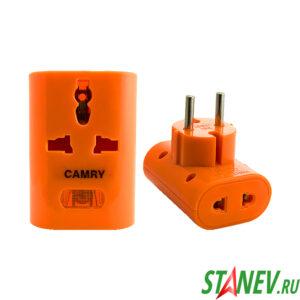 Адаптер для вилок Тройник универсальный CAMRI 16А подсветка 12-240