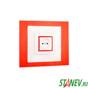 Накладка рамка под выключатель и розетку белая люкс ЮЛИГ.735212.410 для защиты обоев 20-280