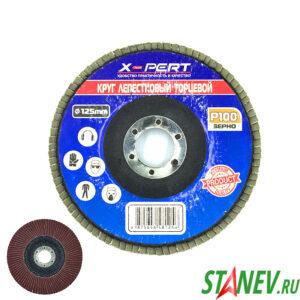 Круг шлифовальный лепестковый торцевой 125мм Р-100 10-200