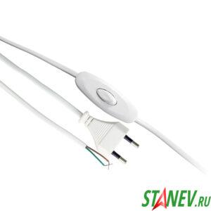 Шнур для бра Standart-Luxe восход 1.5м с выключателем и вилкой сетевой Белый 50-200