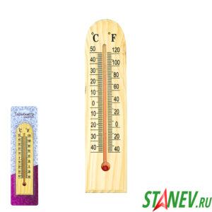 Термометр комнатный бытовой деревяный полукруглый С1102 24-144