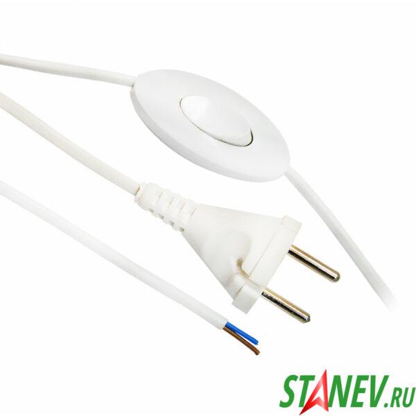 Шнурок для бра с выключателем Макел сетевой 1.7 м белый Vi-tok 10-160