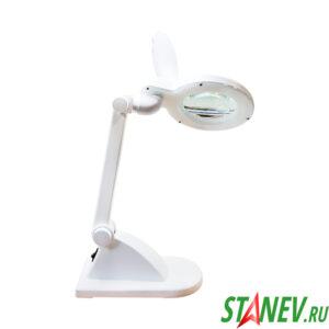Лампа лупа настольная с подсветкой светодиодной LED ZD-121 на штативе 1-10