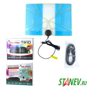 Комплект бесплатного цифрового ТВ с антенной SELENGA 1-1