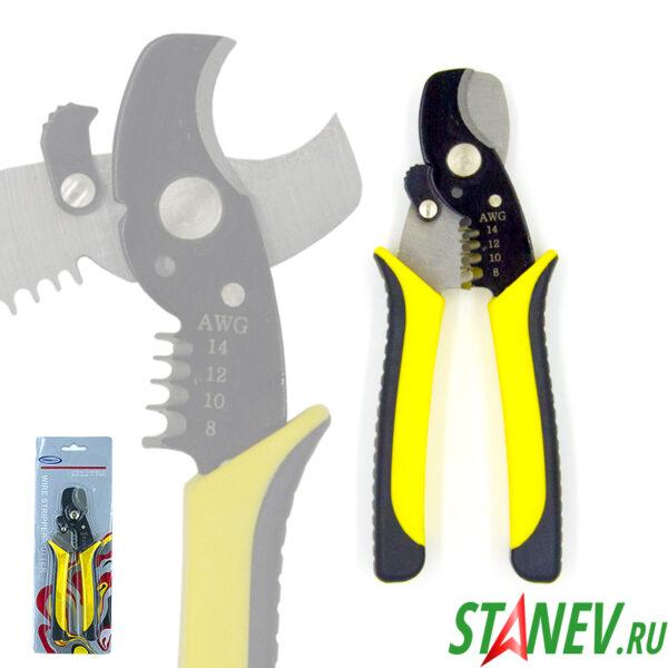 Инструмент Кабелерез 206 для обрезки провода и зачистки кабеля 170мм 14-8AWG 15-72