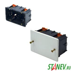 СП Коробка разветвительная 100х60х50 для гипсокартона с крышкой IP20 PlastElectro 10-90